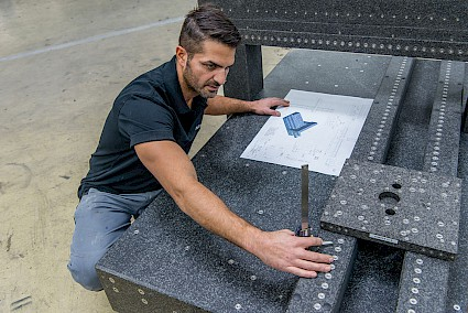high precision with the natural hard stone granite